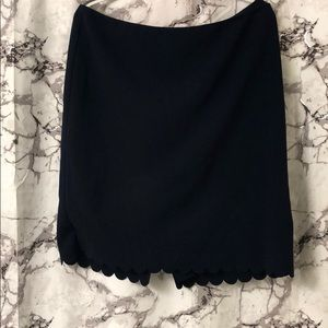Navy Blue Banana Republic Pencil Skirt